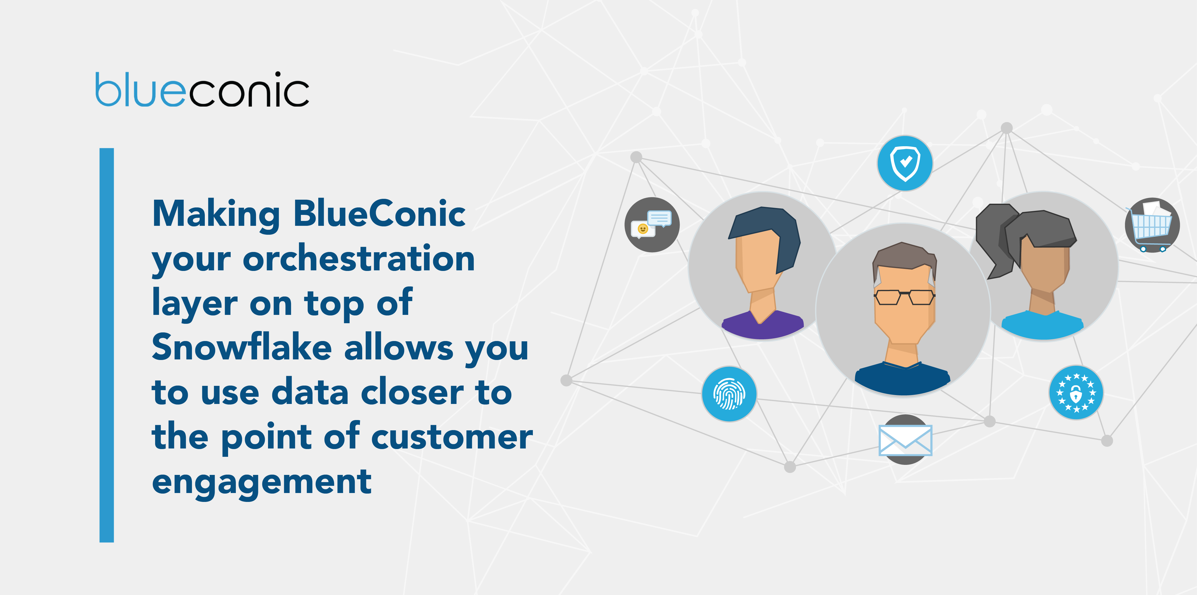 Making BlueConic your orchestration layer on top of Snowflake allows you to use data closer to the point of customer engagement.